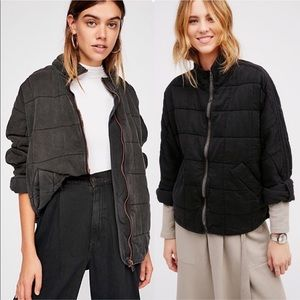 Free People Black Quilted Dohlman Jacket Small